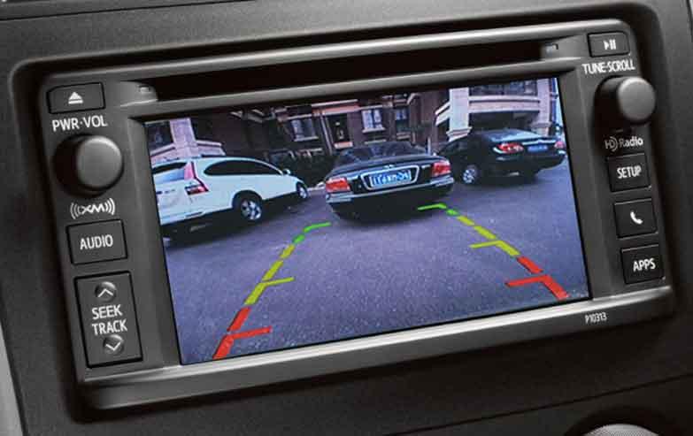 Reversing camera installed in an older vehicle.